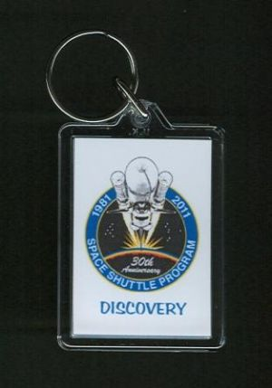 NASA 30 Years of the Space Shuttle Program Keyring - Discovery